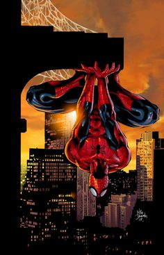 Amazing Spiderman by Mike Deodato, Jr. Amazing Spiderman, All Spiderman, Spiderman Poster, Parker Spiderman, Marvel Comics, Bd Comics, Marvel Heroes, Captain Marvel, Comic Book Characters