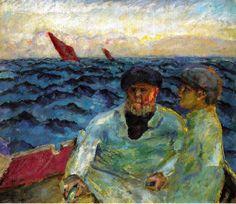 Pierre Bonnard - Fishermen in the Boat, 1907, Sammlung Rosengart Art Museum, Lucerne, Suisse.