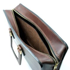 2102 top open leather briefcase - 25