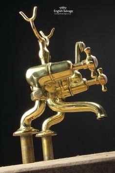 Reclaimed Brass Mixer Taps