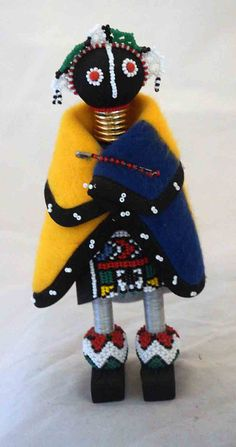 Gorgeous Ndebele Beaded Male Doll from South by UniqueWorldDolls