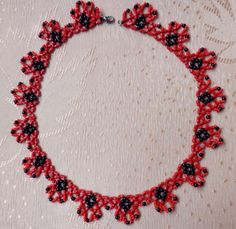 Free pattern for necklace Flame