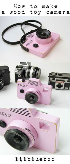 How to make DIY wood toy camera via lilblueboo.com