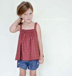 The Olivia Top PDF pattern and tutorial - sizes 2t - 10 - childrens sewing pattern - Instant download