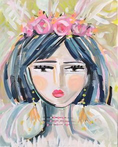 Warrior Girl painting portrait impressionist by Marendevineart