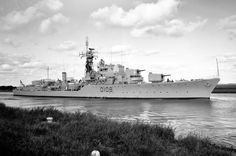Daring class destroyer HMS Dainty (D108) returning to Portsmouth after attending a naval review at Kiel.