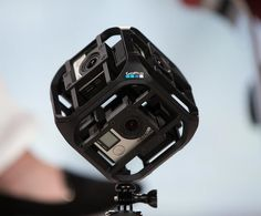 GoPro unveils a ball-shaped mount that can hold six of its cameras. Those images can then be integrated to appear on virtual reality displays. Read more: http://money.cnn.com/2015/05/28/technology/gopro-virtual-reality-drones/index.html  Daniel Kaufman, Pres. & CEO, Reagan Wireless Corp. www.reaganwireless.com