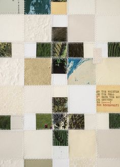 A Peaceful Murderer sewn collage / paper quilt by enjoyjanuary