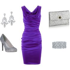 love the grape with silver- special occasion dress.. spring summer wedding guest?