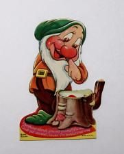 "*BASHFUL ~ 1938 BASHFUL THE DWARF"" MECHANICAL VALENTINE CARD""+CARD STAND"