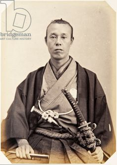 Portrait of a thirty–seven–year–old Japanese man named Tanaka Rentarō, a samurai and officer (performing the function of deputy secretary) o...