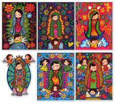 Virgen de Guadalupe, Virgen de la Macarena y Virgen de los Lagos