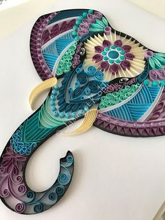 jasmeetkohli quilling elephant head pa handmade quilled paper art - The world's most private search engine Quilling Images, Paper Quilling Patterns, Quilled Paper Art, Quilling Paper Craft, Diy Paper, Quilling Ideas, Quilling Letters, Quilling Tutorial, Quilling Flowers
