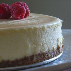 Vanilla Cheesecake with Raspberry Sauce Recipe on Food52 recipe on Food52