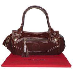 depot vente de luxe en ligne lancel sac a main en daim et cuir chocolat   f8f3c1292b7
