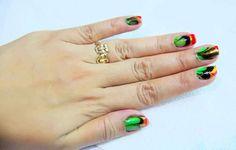 Create a Marble Nail Effect Using Water Step 17 Version - Most beautiful Nail models Pink Nail Art, Cute Nail Art, Pink Nails, Cute Nails, Gel Nails, Cat Eye Nails, Nail Effects, Nail Art Kit, Manicure At Home