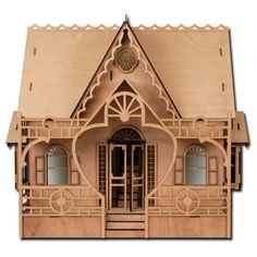 Amazon.com: Greenleaf Dollhouses Laser Cut Diana Dollhouse Kit: Toys & Games