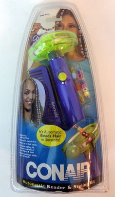 Conair Automatic Beader Bead Styling Kit Quick Purple Green Tangle Free NEW #Automatic