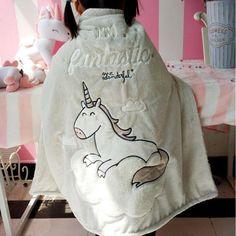 Unicorn Whale Plush Blanket