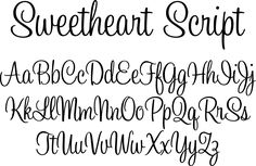 Sweetheart Script Font by Typadelic : Font Bros Hand Lettering Alphabet, Calligraphy Alphabet, Calligraphy Fonts, Pretty Fonts Alphabet, Alphabet Fonts, Caligraphy, Font Styles Alphabet, Creative Lettering, Lettering Styles