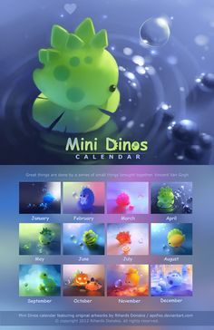 Mini Dinos Calendar | by *Apofiss on deviantART