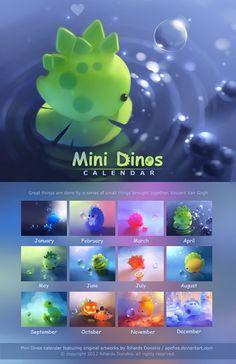Mini Dinos Calendar | by *Apofiss on deviantART
