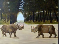 Neushoorns ...Handmade by Silvia Koning