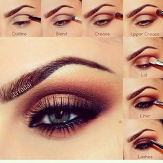 Makeup cut-crease tutorial from IG