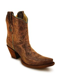 Ladies Corral TOB Shorty Ankle Boot A2797 - Texas Boot Company is located in Bastrop, Texas. www.texasbootcompany.com