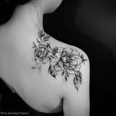 Rose Tattoo Shoulder Blade Google Search Monkey Tattoos Back Of Shoulder Tattoo Shoulder Tattoos For Women