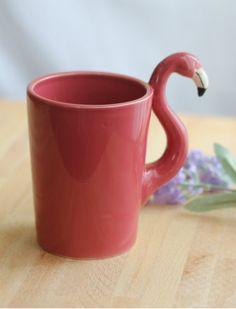 Taza ceramica flamenco: Tape Pink