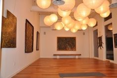 ember yoga :: the studio, hanging lanterns for small studio?