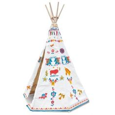 Tipi by Nathalie Lete Petitcollin - Superb Indian attempts to greige fabric illustrated by Nathalie Lete to hide in his room and invent stories of Sioux chiefs!
