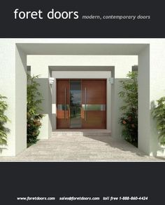 Gallery of contemporary modern wood doors by Foret Doors - modern ...