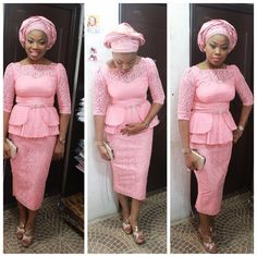 Creative Aso Ebi Skirt and Blouse Style http://www.dezangozone.com/2016/04/creative-aso-ebi-skirt-and-blouse-style_13.html