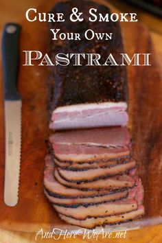 You Can: Make Your Own Pastrami! Cure Your Own Pastrami at Home!Cure Your Own Pastrami at Home! Sausage Recipes, Beef Recipes, Real Food Recipes, Yummy Food, Lunch Recipes, Salmon Recipes, Easy Recipes, Dinner Recipes, Best Cheese