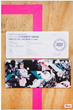 Paper Invite- Fashion Week- Rebecca Minkoff