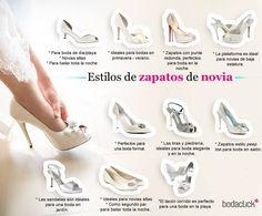 Futura #novia, aquí hay algunas unas #ideas sobre los distintos #estilos de #zapatos #novia #preparativos #zapatos #SalonNoviosManzanares