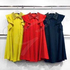 Blusa rayas roja plieges zara   H&m   Mango   Tita Madrid