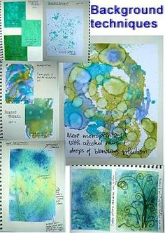 Effects adding sea salt and alcohol to acrylic paint