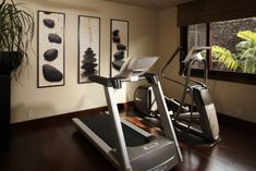 Hualalai Serenity - asian - home gym - hawaii - Willman Interiors / Gina Willman, ASID.  (I would love to turn my spare bedroom into this home gym.)