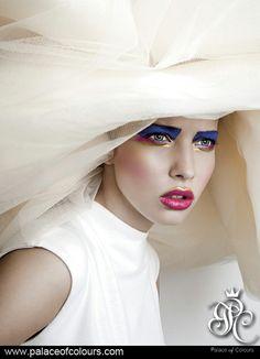 """COSMIC BRIDE"" Photography from the album ""PALACE OF COLOURS. THE MAGIC OF MAKE-UP."" (www.palaceofcolours.com) photo & make-up: Dorota Kościukiewicz-Markowska"