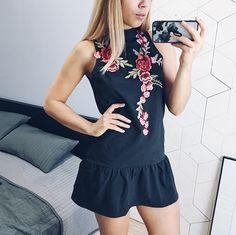 Платье с вышивкой, воланом и открытой спиной с Алиэкспресс - http://aliotzyvy.ru/plate-s-vyshivkoj-volanom-i-otkrytoj-spinoj-s-aliekspress/