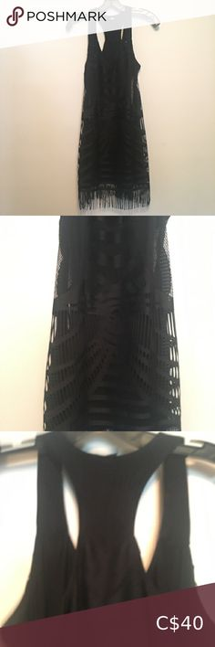 Guess LBD Guess dress Little black dress Raced back Many details Looks great Size small Guess Dresses Mini