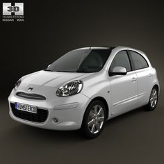 3D model of Nissan Micra (March) 2011 based on a Real object, created according to the Original dimensions. Available in various 3D formats. Download.