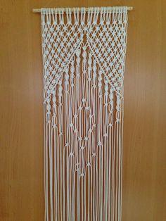 Makramee wandbehang makramee wand gobelin retro 70 er jahre faser kunst wandschmuck makramee mit - Makramee wandbehang ...