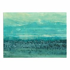 KESS InHouse Iris Lehnhardt 'Oceanic' Teal Blue Dog Place Mat, 13' x 18' -- Don't get left behind, see this great dog product : Dog food container
