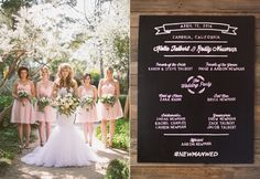 chalkboard paper goods - photo by Kelsea Holder http://ruffledblog.com/cambria-pines-lodge-wedding