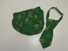Baby Boy Necktie and Diaper cover 6 to 12 month size Green Frog  themed Cake Smash First Birthday. $20.00, via Etsy.