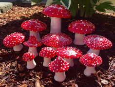 These beautiful mushrooms are made by hand, no molds or forms.